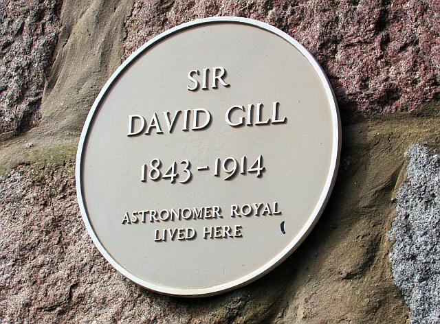 David gill yellow plaque open plaques for 48 skene terrace aberdeen