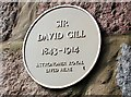Photo of David Gill yellow plaque