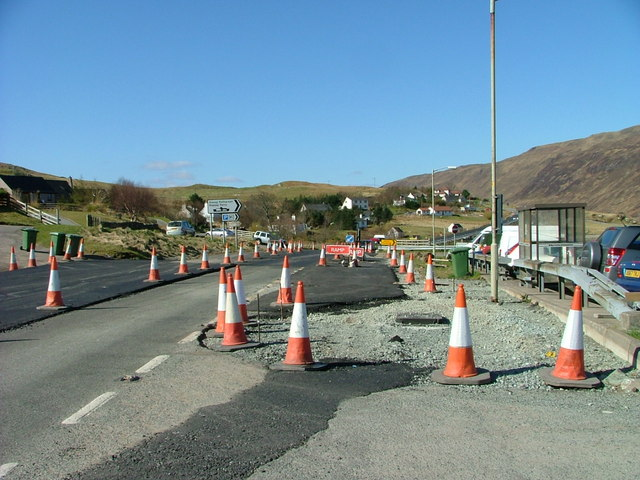 Roadworks at Sconser