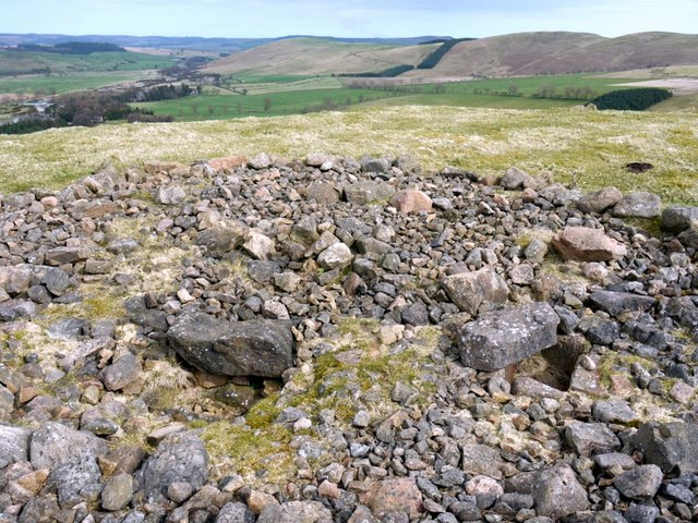Excavated Bronze Age burial cairn, Turf Knowe