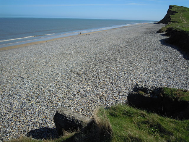 The Beach at Old Hithe looking east