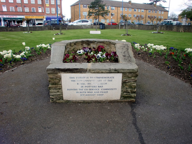 Commemorative Plaque, Potters Bar, Hertfordshire