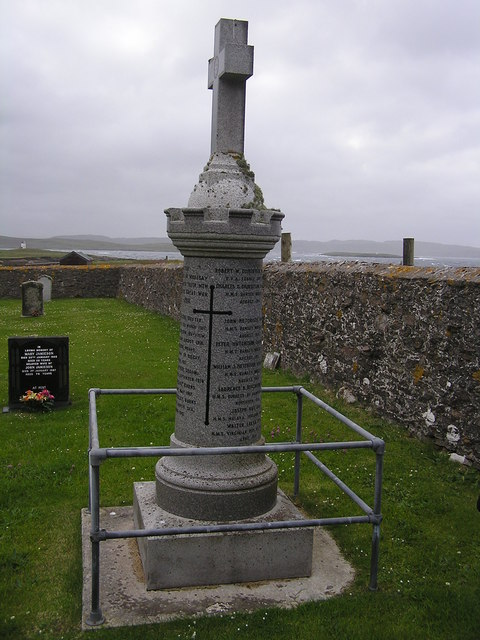 World War 1 Memorial at Whalsay Kirk