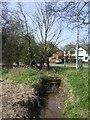 SJ9302 : Waterhead Brook downstream at Cannock Road by John M