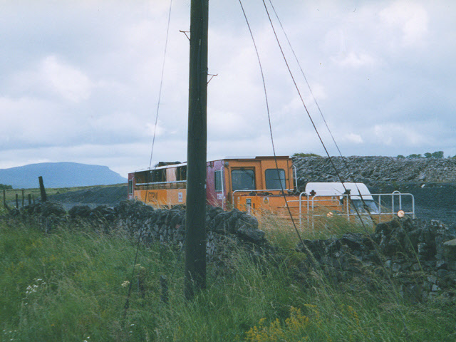 Track machine in Ribblehead sidings