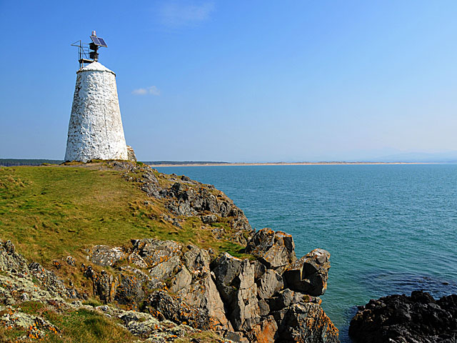 Navigation beacon on Llanddwyn Island