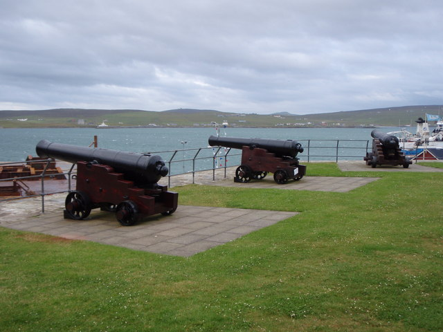 Cannons on Fort Charlotte, Lerwick