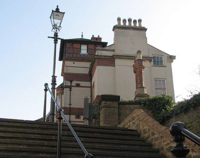 Looking up Park Steps, 2010