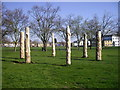 TQ5088 : Wooden sculptures in Cottons Park by PAUL FARMER