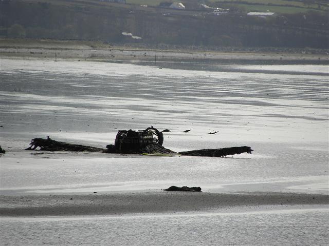 Remains of crashed Corsair plane