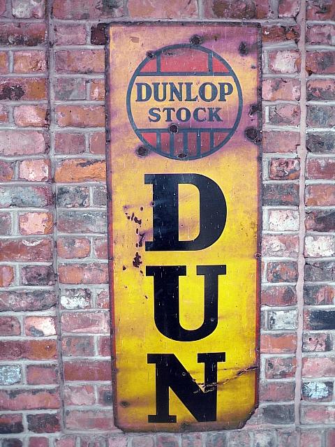 'Dunlop Tyres' enamel sign