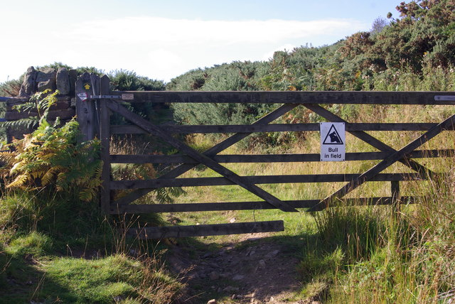 Gate blocking right of way