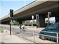 TQ4078 : Pelican crossing on the A102 sliproad by Stephen Craven