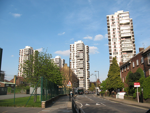 Tower blocks in Camberwell