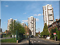 TQ3277 : Tower blocks in Camberwell by Stephen Craven