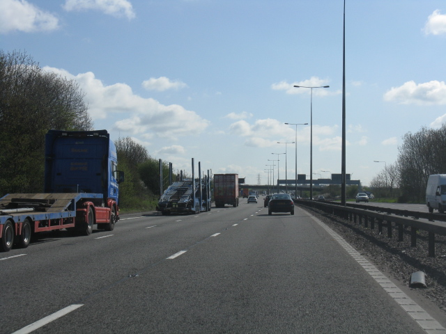 M6 motorway beyond junction 2