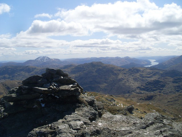 The summit of Beinn Chabhair
