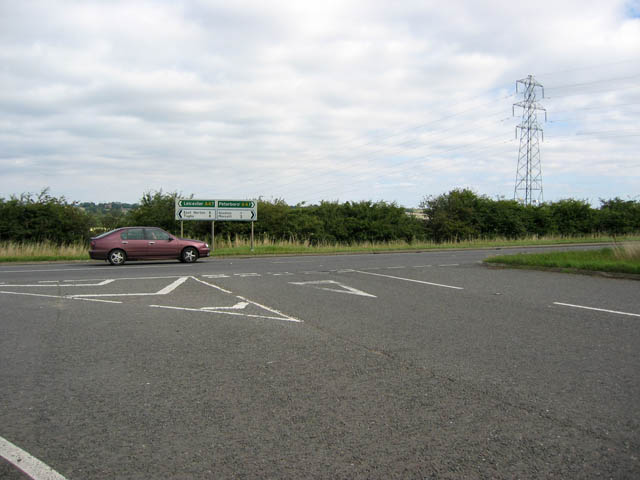 Glaston Road/A47 junction