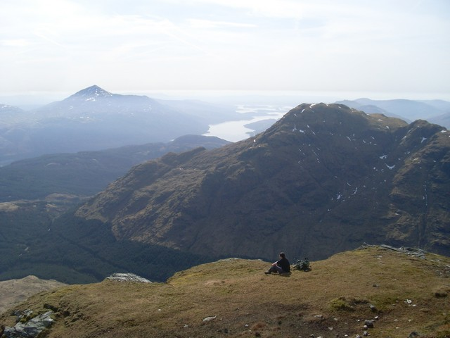 SE view from summit of Ben Vane