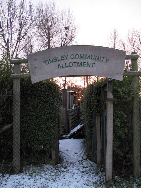 Entrance to Tinsley Community Allotments