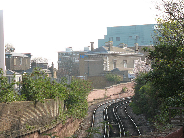 Railway approaching Greenwich