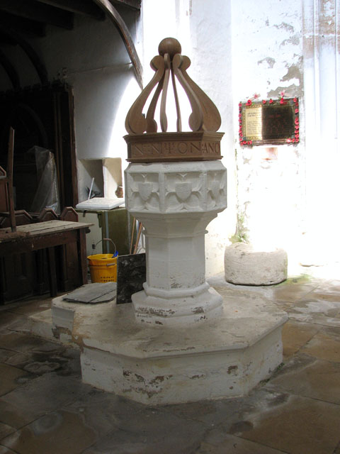 St Andrew's church in Walpole St Andrew - C15 font