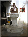 TF5017 : St Andrew's church in Walpole St Andrew - C15 font by Evelyn Simak