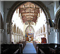 TF4710 : All Saints church in Walsoken - Norman chancel arch by Evelyn Simak