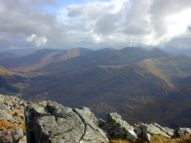 View over Glen Shiel from Sg&ugrave;rr na Ciste Duibhe