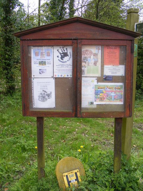 Badingham Village Notice Board