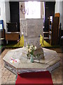 TM3068 : Font of John The Baptist Church, Badingham by Adrian Cable