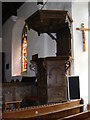 TM3068 : Pupit of John The Baptist Church, Badingham by Adrian Cable