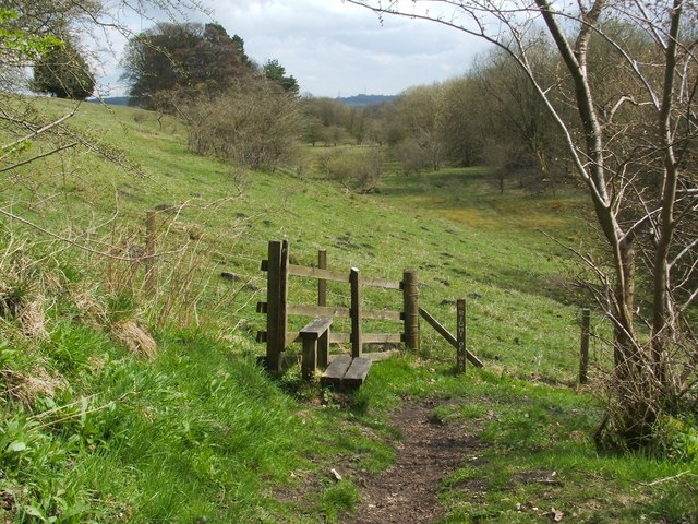 Right of way to Stoneywood