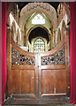 TF5520 : The church of St Clement - gates at nave west end by Evelyn Simak