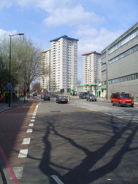 Ampthill Square Estate tower blocks.
