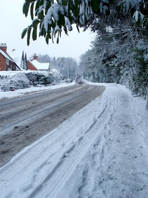 Snowfall on Rose Hill, Lickey