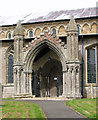 TF4713 : St Mary's church in West Walton - south porch by Evelyn Simak
