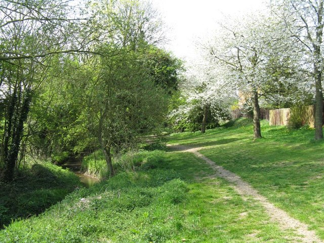 Path by the Slade Brook in Rothwell