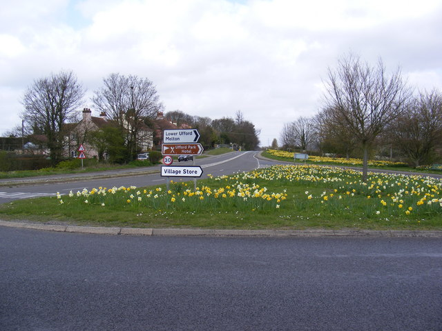 Floral Display  on the B1438 High Street