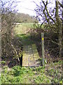 TM3666 : Footbridge between fields by Adrian Cable
