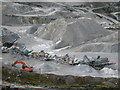 SW9857 : Stone crushing plant at Little Johns Pit by Rod Allday