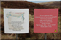 NT3047 : Notice, Bowbeat wind farm by Jim Barton
