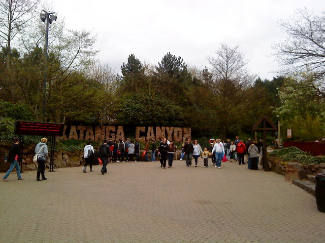 Katanga Canyon at Alton Towers:: OS grid SK0743 :: Geograph ...