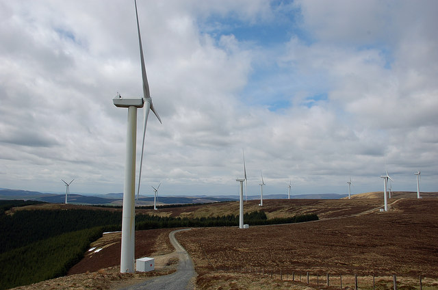 Bowbeat wind farm, Moorfoot Hills