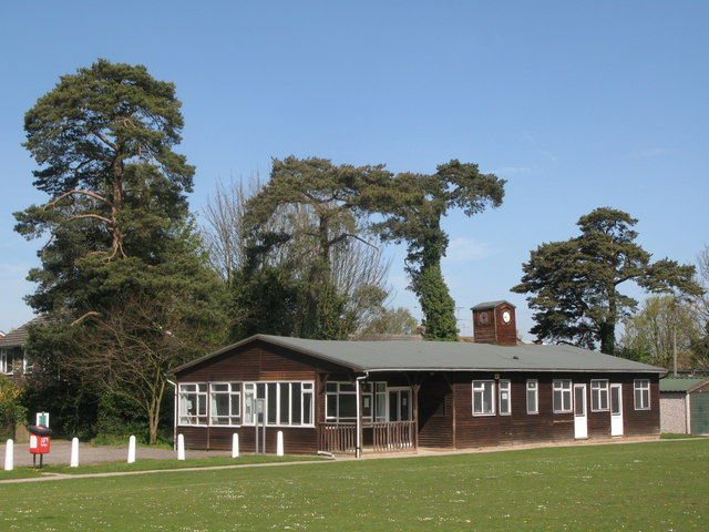 The cricket pavilion, Adastra Park