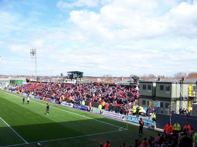 East Stand at Bloomfield Road, Blackpool - 2009/10