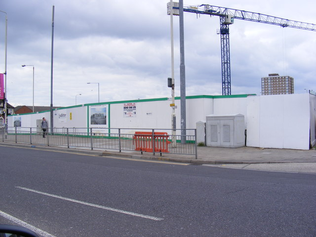 Construction Site on the A124 Wood Lane