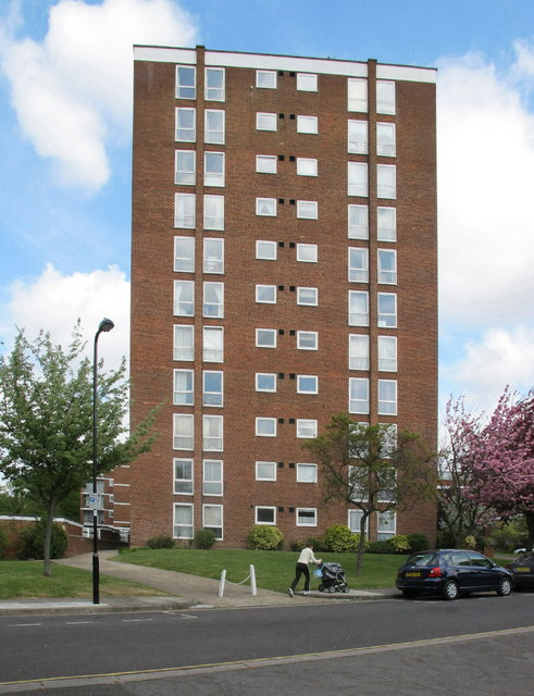 Tower block by Hanger Vale Lane