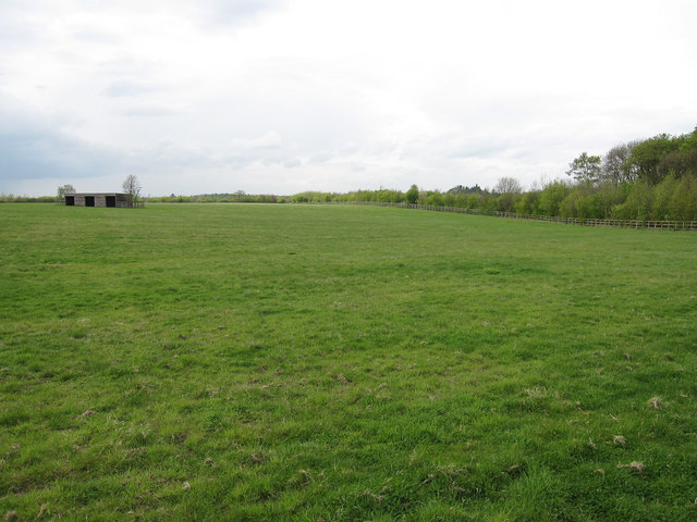 Stud farm field and shelter