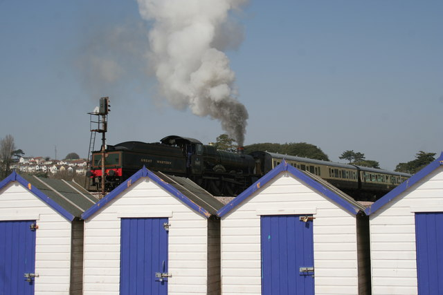 Steam Train and Beach Huts